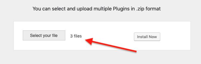 Multiple Plugin File Selected