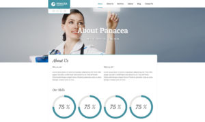 Panacea - health center WordPress theme
