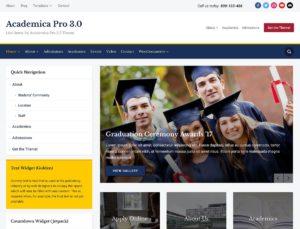 Academica - online education wordpress theme