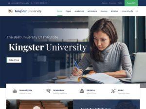Kingster - online education wordpress theme