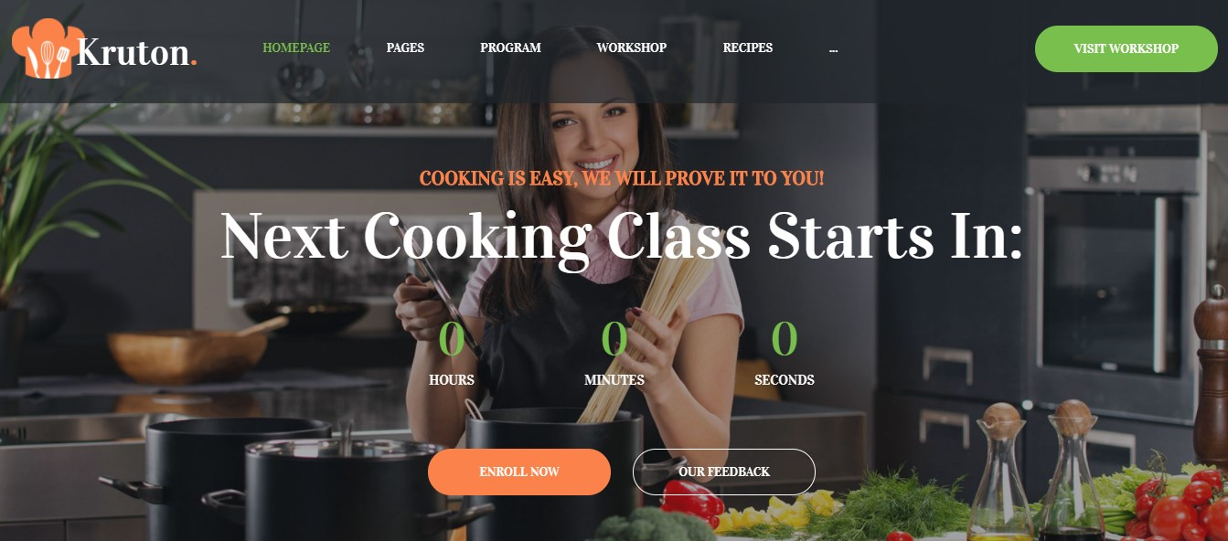 Kruton - best theme for subscription site