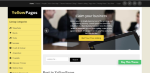 Yellow Pages - business directory WordPress theme