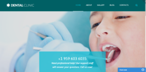 Dental Clinic - medical clinic theme