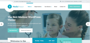 MedicPress - medical clinic WordPress theme