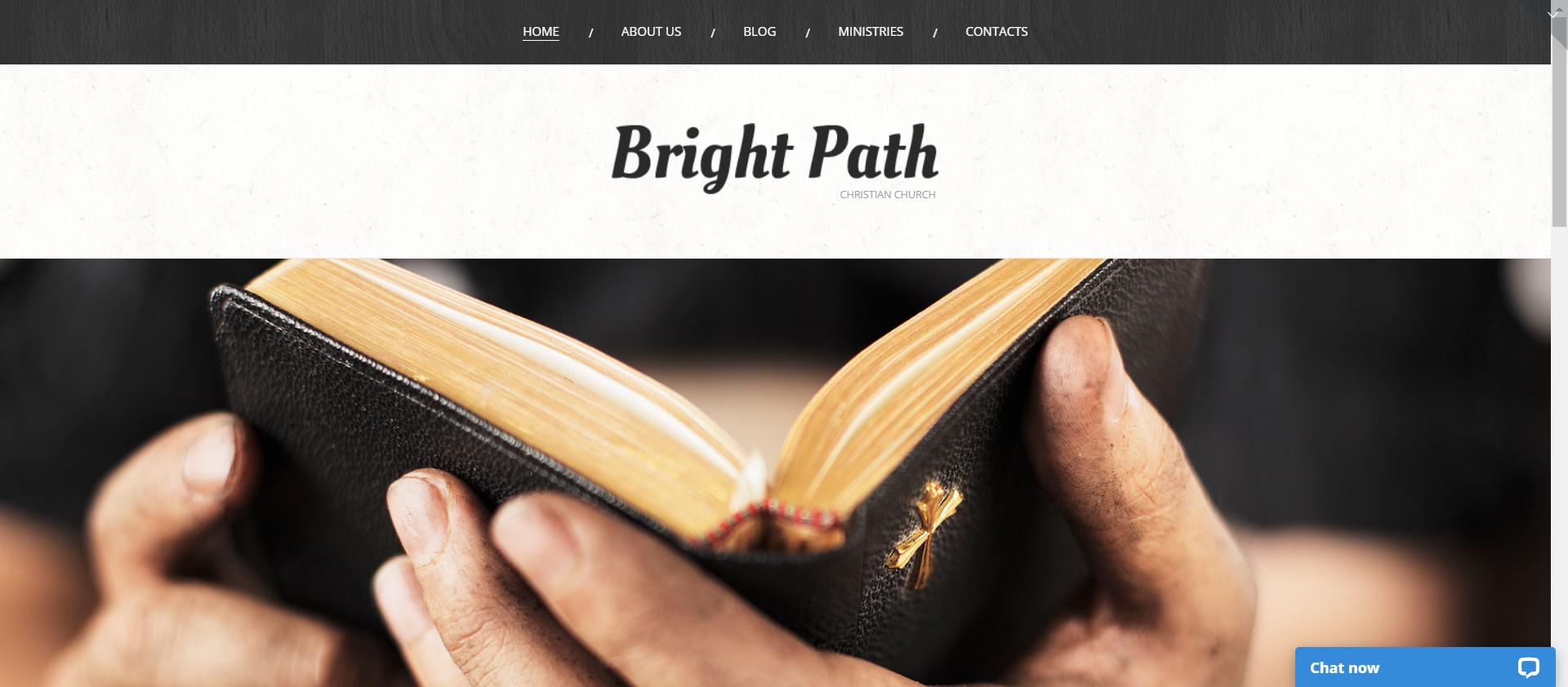 Church Web Presence - WordPress Religious Theme