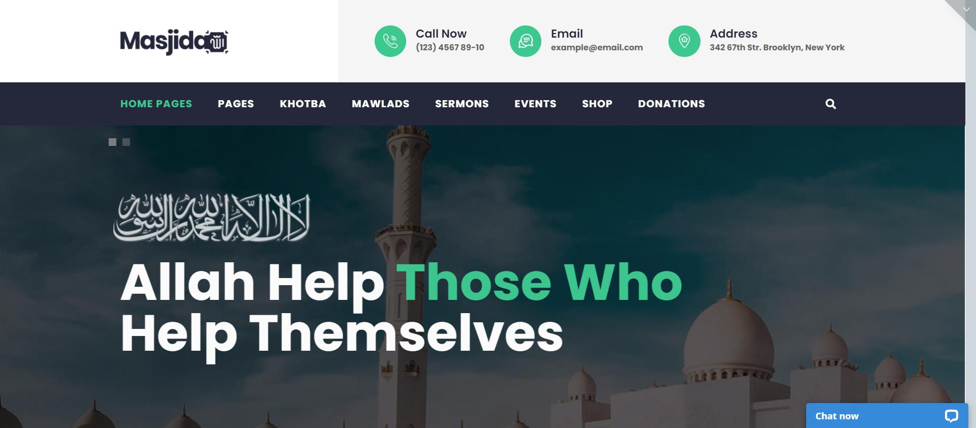 Masjidha - WordPress religious theme