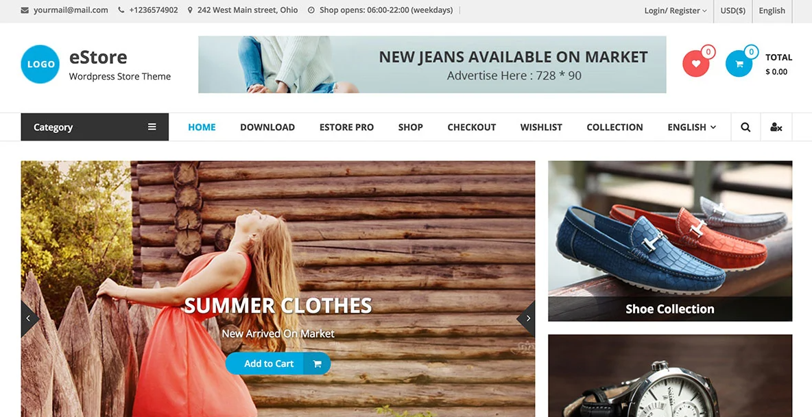 Best eCommerce website themes