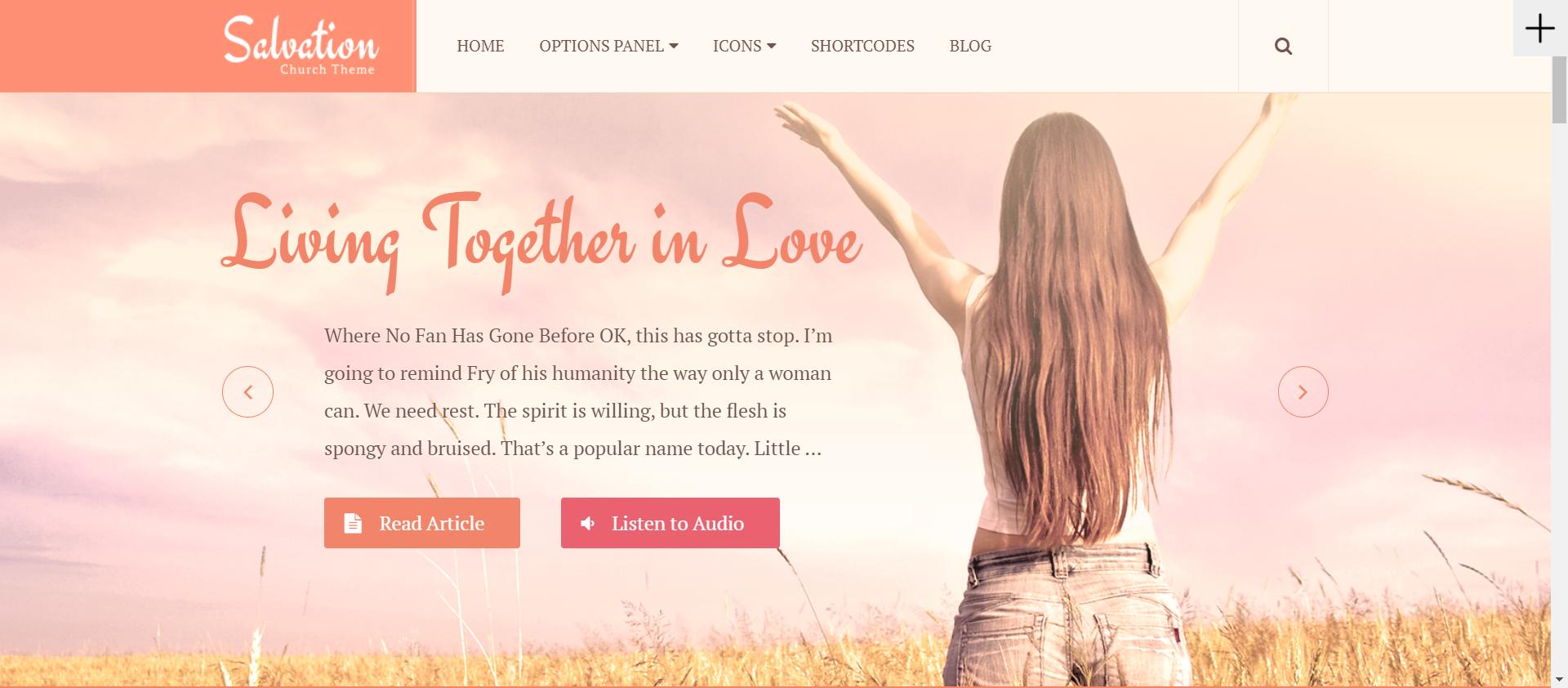 Salvation - WordPress church themes 2020