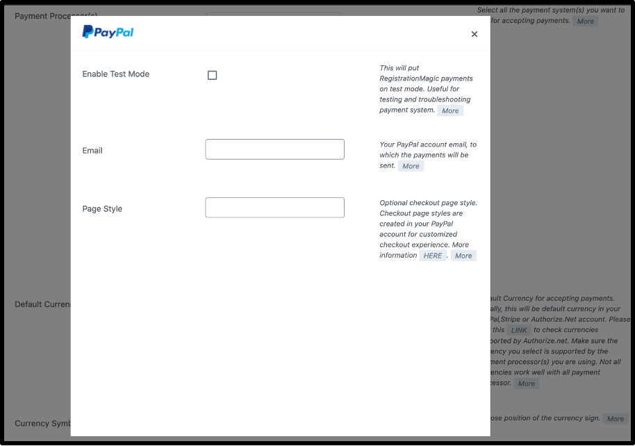 Enable Payment- WordPress payments form