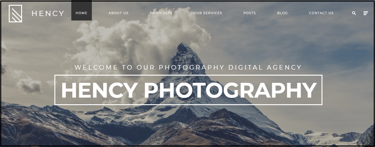 wordpress template photography