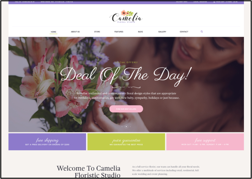 flower shop website template