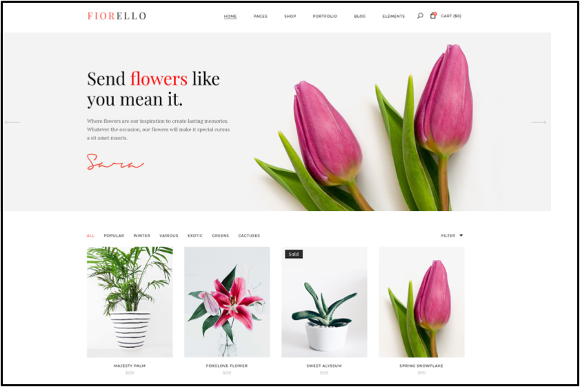 wordpress flower shop theme