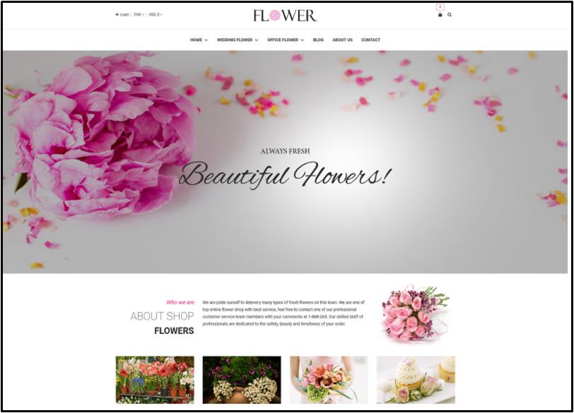 florist theme wordpress