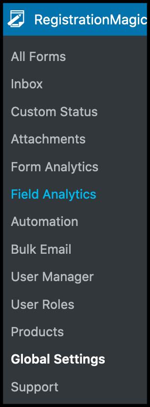 RegistrationMagic- Field analytics