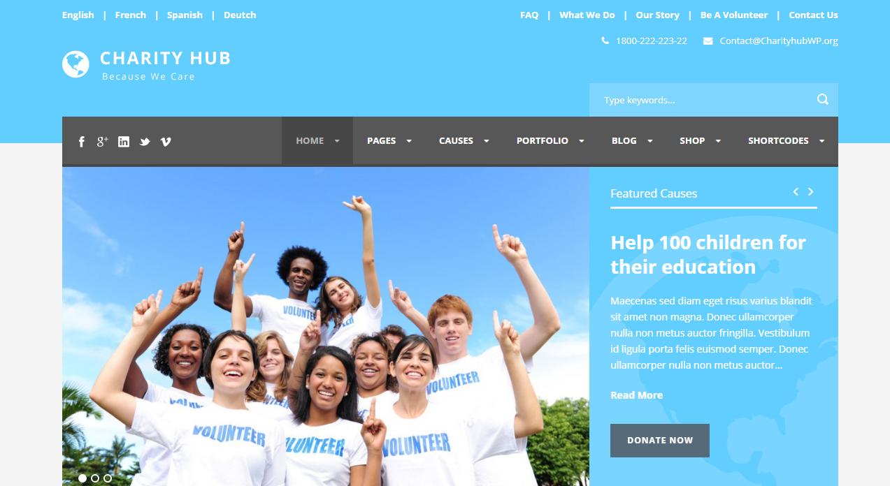 Best NGO templates WordPress