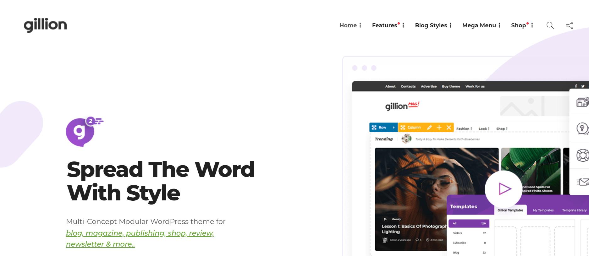 wordpress blogging themes