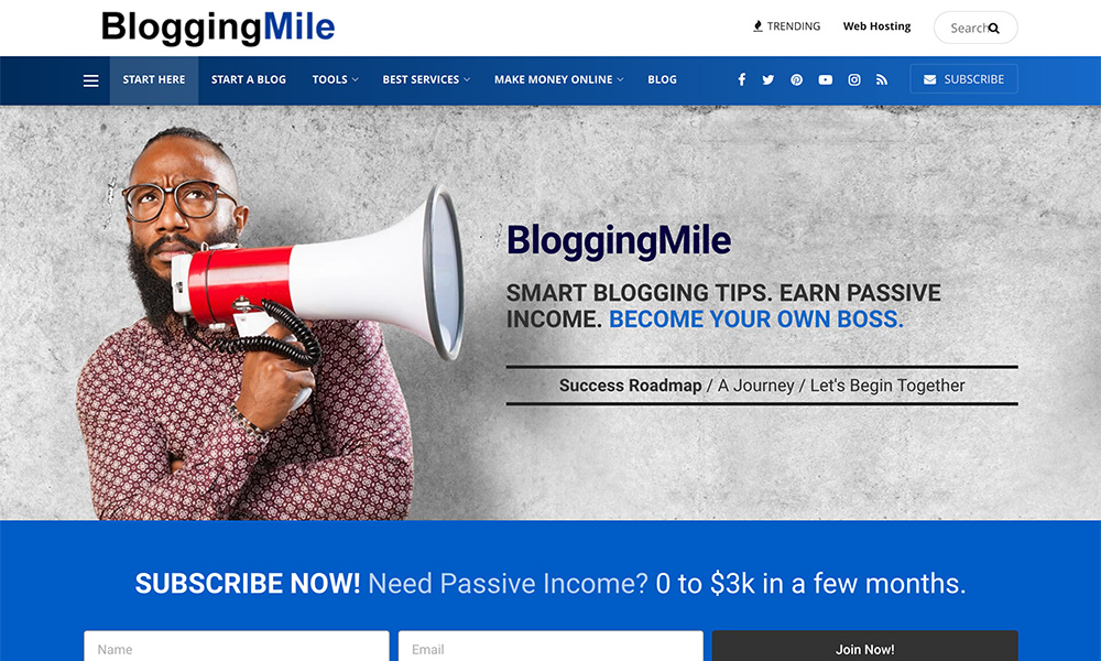 blogging mile