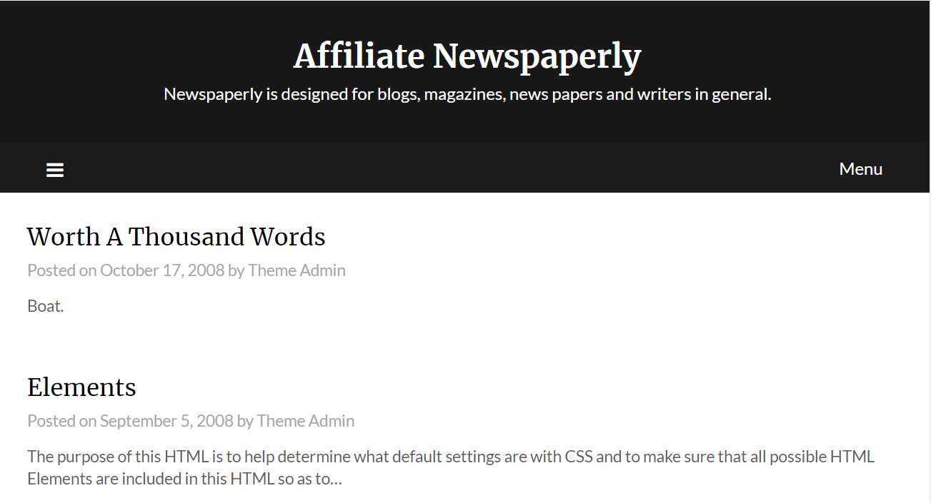Affiliate Newspaperly